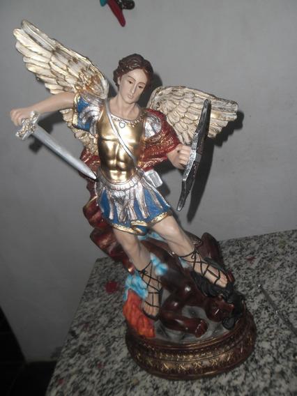 Imagem São Miguel Arcanjo Grande 60cm Magnífica Escultura!!!