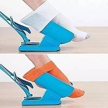 Calçador De Meias E Sapatos Sock Slider Rápida Fácil Versáti