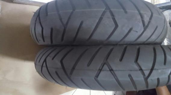Par Pneu Moto 90/90-12 E 100/90-10 Pirelli Sl 26 Honda Lead