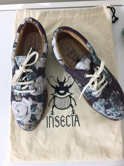 Oxford Florido- Insecta Shoes, Sapato Ecológico E Vegano