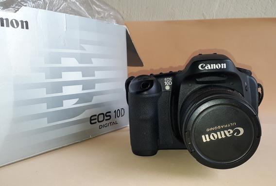 Camera Fotográfica Canon Eos 10d Com Acessórios