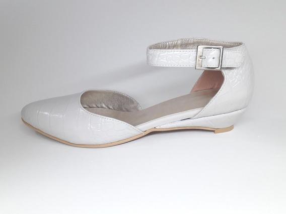 Zapatos Chatitas Tipo Sandalias Charol Cuero Taco Bajo