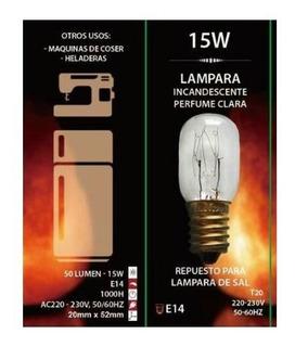 50 Lamparillas Perfume E14 15w Lamparas De Sal Heladeras Etc