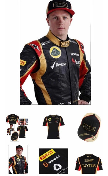 Playera Polo Lotus F1 The Ice Man Kimi Raikkonen Formula Uno