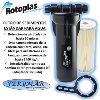 Filtro De Sedimentos Agua Estandar Rotoplas Tanque