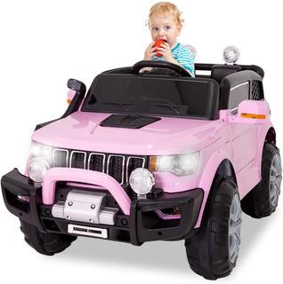 Carrito Electrico Montable Jeep Rosa Niño Carro Electrico