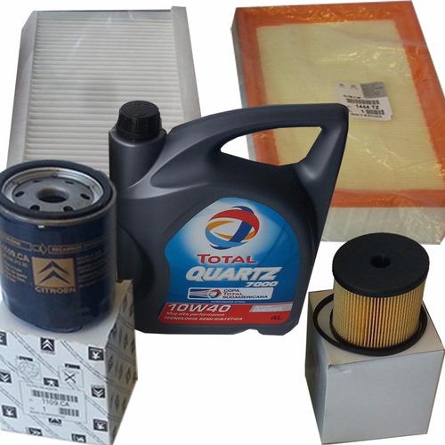 Kit De 4 Filtros + Aceite Peugeot 307 2.0 90hp Hdi 2005-2011