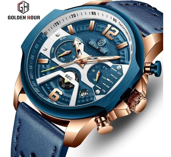 Relógio Goldenhour Original Masculino + Envio 24hrs