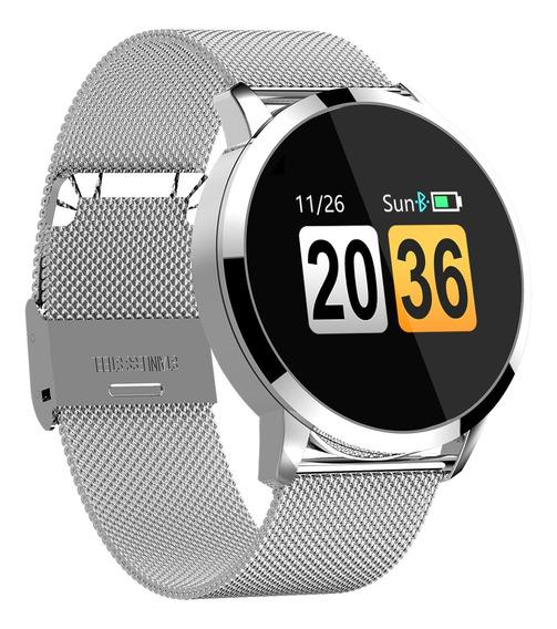 Reloj Inteligente Q8 Oled Color Pantalla Correa Acero