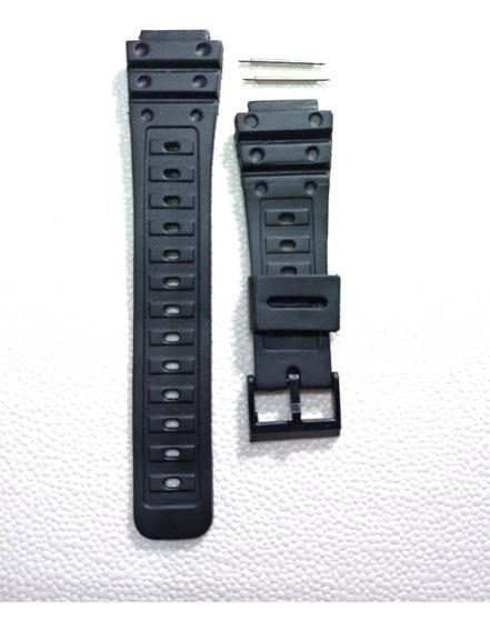 Pulseira Relógio Borracha 17mm Seiko, Citizen - Grátis Pinos
