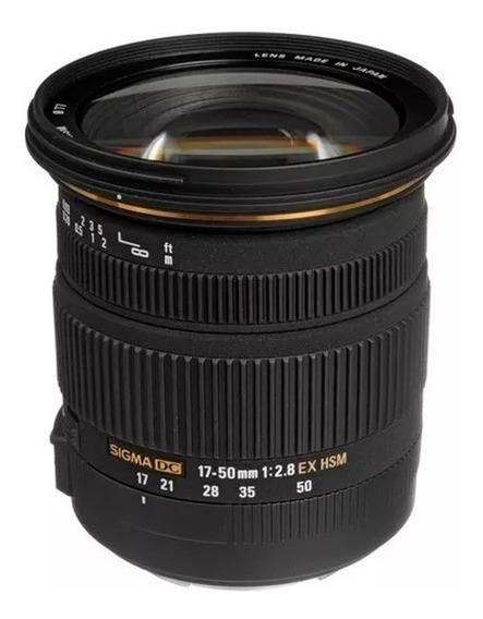 Lente Sigma 17-50mm F / 2.8 Ex Dc Os Ef Hsm Para Canon