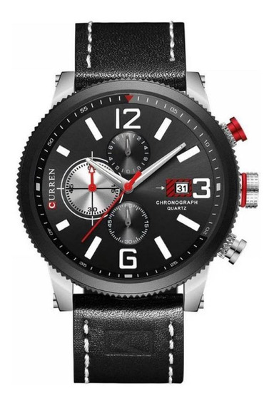 Relógio Masculino Curren Analógico 8281 - Preto E Prata