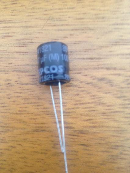 Capacitor Eletrolitco 47 Uf 100 V Epcos Pacote Com 10 Peças