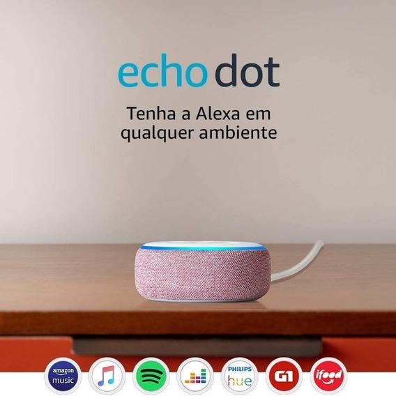 Amazon Echo Dot 3rd Gen Smart Speaker Alexa - Rosa C/ Branco
