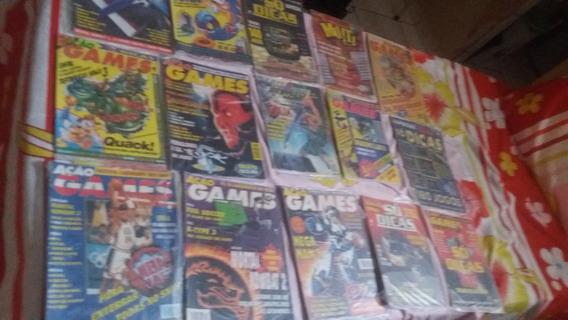 Revistas Ação Games Lote Com 13 Revistas, Confira As Fotos!