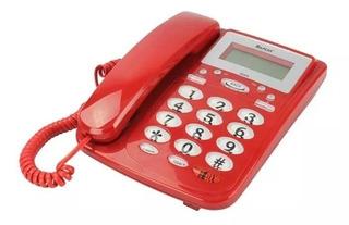 Telefono Alambrico Pantalla Digital Alarma Altavoz C5s