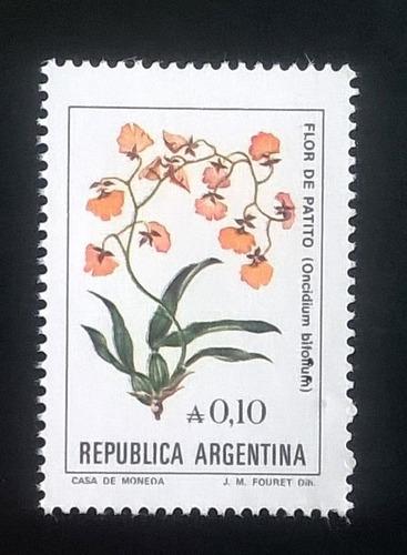Argentina Flores, Sello Gj 2214 A 0,10 A Fosf 85 Mint L11094