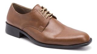 Zapatos Hombre Eco Cuero Moda Simón De La Costa Acordonados