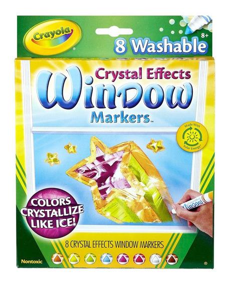 Marcadores Lavables Para Vidrio Crystal Effects Crayola X8