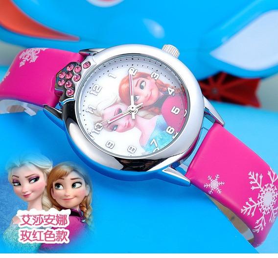 Relógio De Pulso Princesas Frozen Menina Criança 165