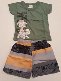 Conjunto Camiseta E Bermuda Infantil Tam Pb(de 3 À 6 Meses)