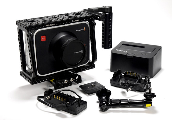 Camera Blackmagic Design Camera 4k E Cage Wooden Camera