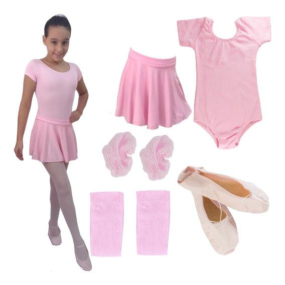 Roupa De Ballet Infantil Com Body Lindo 02 Ao 12 Anos