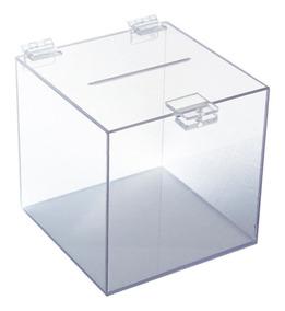 Urna Caixa Acrilica Cristal 20x20x20cm - Preço Justo