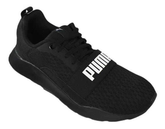 Tênis Masculino Puma Wired Black - 3669