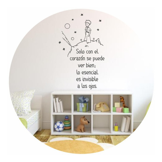 Vinilo Decorativo El Principito Frase Personalizada Infantil