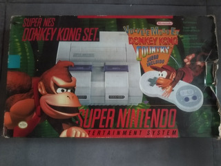 Consola Super Nintendo En Caja Donkey Kong Country