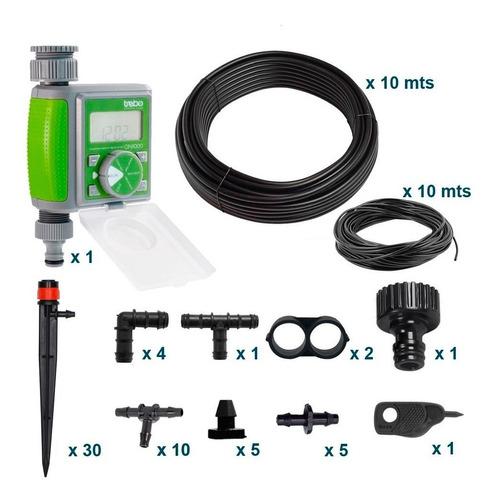 Imagen 1 de 7 de Kit  Riego Automatico Goteo 30 Macetas Kit30 Aquaflex