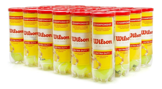Bola De Tênis Wilson Championship - Caixa Com 24 Tubos