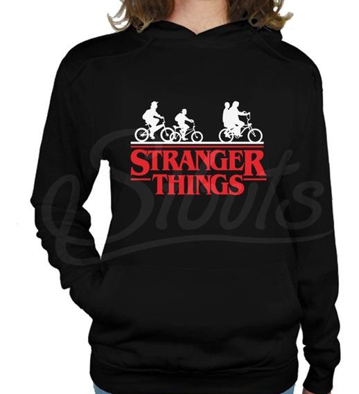Sudadera Negra Mujer Gorro Stranger Things Bicicleta Envío G