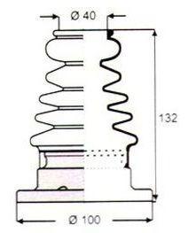 Imagen 1 de 7 de Capuchon Homocinetica Volkswagen Polo/se Tol/cord/golf/