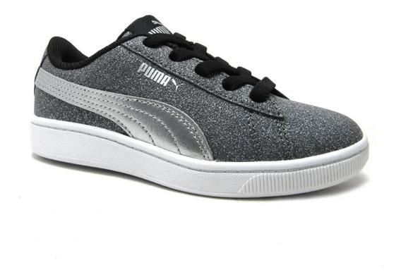 Zapatillas Puma Vikky V2 Glitz Ac Ps Niños Abc Deportes