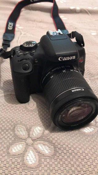 Câmera Cânon T6i C Lente 18,55 , Carregador , Alça , Bolsa