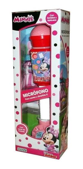Microfono Minnie Ditoys Luces Y Sonidos Conexion Mp3 Disney
