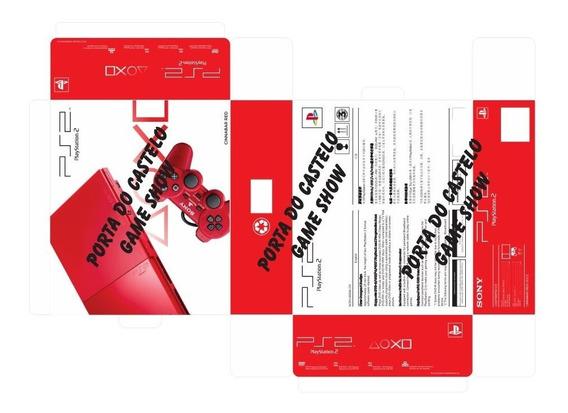 Arte Pdf Caixa Playstation 2 Slin Vermelho (red)