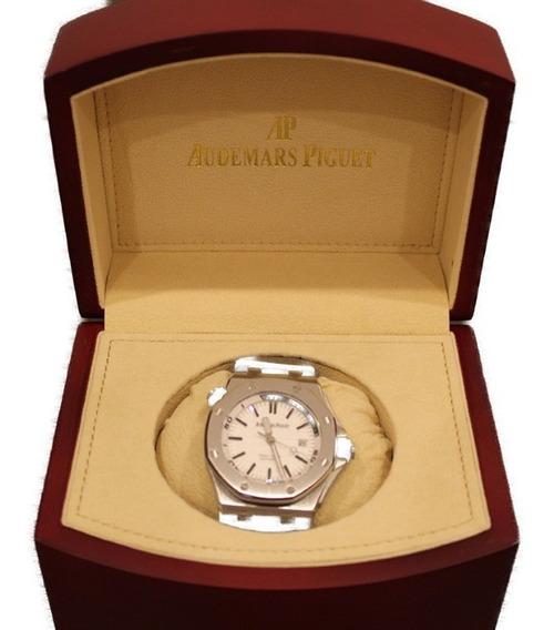 Reloj Tipo Audemars Piguet Diver Blan Con Estuche 760180stwh