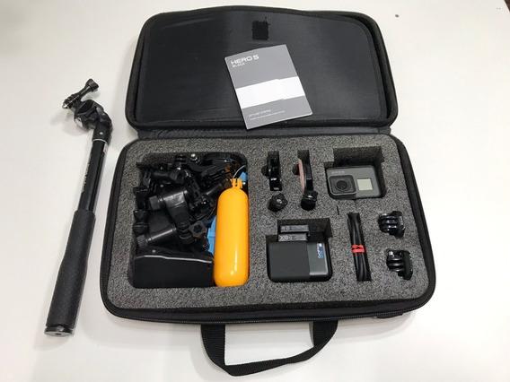 Gopro Hero 5 Black + Micro Sd 64gb + 2 Baterias + Acessórios