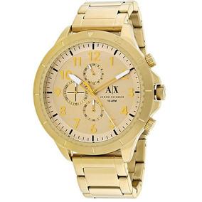 Relógio Armani Exchange Pulseira De Aço Dourado Ax1752/4dn