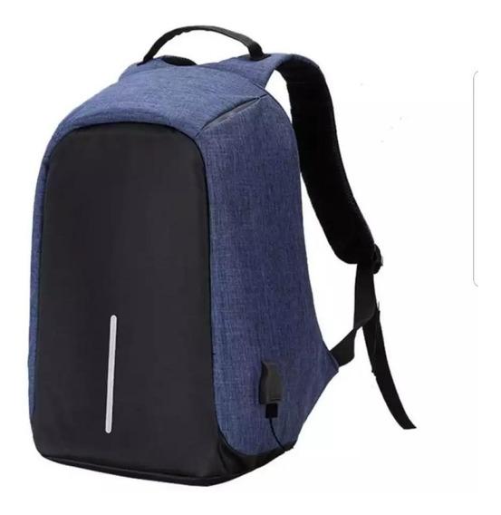 Mochila Antirrobo Xl Smart Bag Notebook Carga Usb Colores