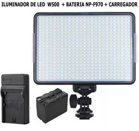 Iluminador De Led W500 + Bateria Np-f970 + Carregador