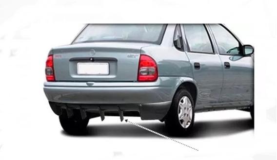 Spoiler Traseiro Corsa Sedan De 1996 Até 2010 Com Extrator - Preto
