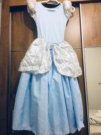 Vestido Fantasia Cinderela Tam 10