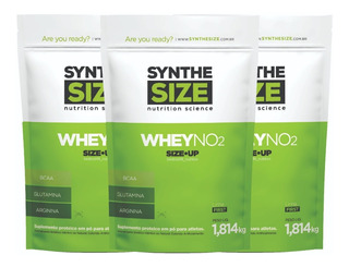 3x Whey No2 1,8kg Synthesize (total 5,4kg) Sabores