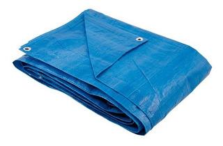 Lona 5x3 Mt Azul Plastica Impermeavel Festa Telhado Multiuso