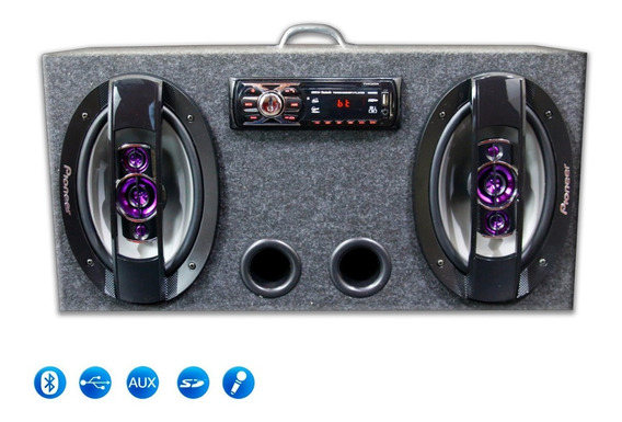 Caixa Ativa 6x9 Pioneer Usb Bluetooth + Modulo Taramps Tl500