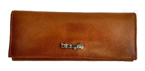 Billetera Fichero Cuero Blaque By Ibbags